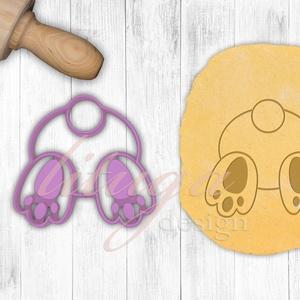 Nyuszi hátsó kekszkiszúró, süteménykiszúró, húsvéti mézeskalács forma, Sütikiszúró, Konyhafelszerelés, Otthon & Lakás, Mindenmás, Mézeskalácssütés, Bájos nyuszi popó  sütemény, keksz, linzer kiszúró forma, a közelgő húsvét alkalmából készítettük sa..., Meska