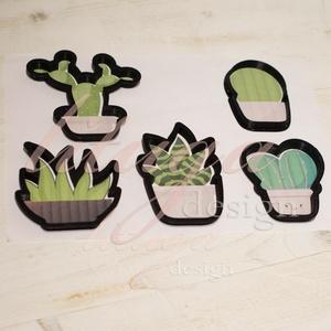 Kaktusz és pozsgás kekszkiszúró, süteménykiszúró, linzer szaggató forma, kaktusz mézeskalács szaggató - több lehetőség, Otthon & Lakás, Sütikiszúró, Konyhafelszerelés, Kaktusz és pozsgás növények kekszkiszúró, süteménykiszúró forma. Az ár egy darab formára értendő, és..., Meska