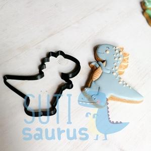 Dínós süteménykiszúró forma - T-rex (2020), Otthon & Lakás, Konyhafelszerelés, Sütikiszúró, Bár a régi dínós kiszúróinkat továbbra is nagyon szeretjük (és Ti is szeretitek!), úgy éreztük, idej..., Meska