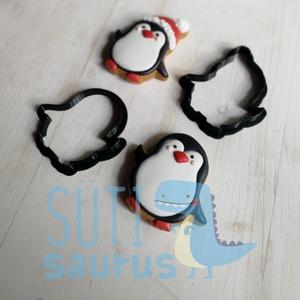 Pingvin mézeskalács kiszúró, pingvin sütikiszúró, kekszkiszúró, sütemény kiszúró - karácsonyi pingvin mézeskalács, Otthon & Lakás, Konyhafelszerelés, Sütikiszúró, Fotó, grafika, rajz, illusztráció, Mindenmás, Pingvin mézeskalács kiszúró, az alábbi opciók és méretek közül lehet választani:\n\nKiszúró magassága:..., Meska