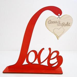 LOVE képtartó egyedi felirattal, Otthon & Lakás, Dekoráció, Asztaldísz, Mindenmás, Közeleg a Valentin nap és még nincs ötleted?\n\nLepd meg kedvesed ezzel a LOVE feliratos képtartóval, ..., Meska
