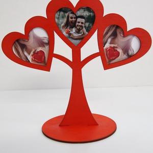 Szerelemfa képtartó lakatceremóniához, Esküvő, Dekoráció, Asztaldísz, Mindenmás, Közeleg az esküvőd napja és még nincs ötleted lakatceremóniához? Esküvői asztaldíszként is tökéletes..., Meska