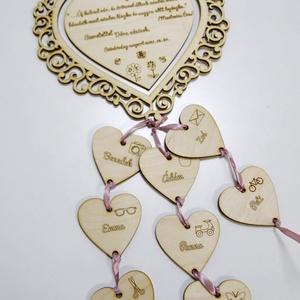 Ballagási ajándék óvó néninek, tanár néninek - csipkés szív, Otthon & Lakás, Dekoráció, Falra akasztható dekor, Mindenmás, Meska
