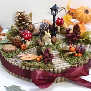 Őszi asztaldísz mókussal, Otthon & Lakás, Dekoráció, Asztaldísz, Mindenmás, Meska