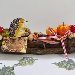 Sünis fakéreg asztaldísz - Helló ősz, Otthon & Lakás, Dekoráció, Asztaldísz, Mindenmás, Meska