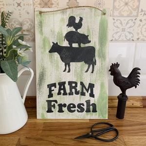 Farm Fresh - Farmhouse tábla - Meska.hu