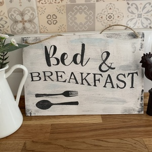 Bed and Breakfast tábla - Meska.hu