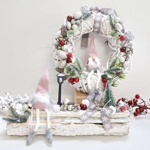 Karácsony a manókkal ajtó- és asztaldísz SZETT, Otthon & Lakás, Dekoráció, Ajtódísz & Kopogtató, Mindenmás, Meska