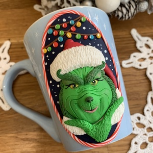 Karácsonyi Grinch bögre - Meska.hu