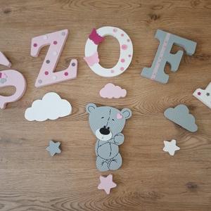 Álló macis szett dekorbetű,bababetű,név,felirat,dekoráció,babaszoba,gyerekszoba,hungarocell  - Meska.hu