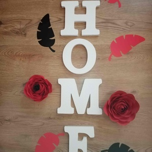 HOME felirat, dekorbetű, felirat,dekoráció,lakásdekoráció, faldekoráció,hungarocell , Otthon & Lakás, Dekoráció, Betű & Név, Festett tárgyak, Mindenmás, A szett tartalma: Kézzel festett, 20 cm magas, 2 cm vastag betűkből álló HOME felirat a kért színben..., Meska