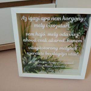 Egyedi, szülőköszöntő ajándék, képkeret, esküvői ajándék, köszönő ajándék, apaköszöntő, Esküvő, Emlék & Ajándék, Szülőköszöntő ajándék, Mindenmás, Ha valami egyedi ajándékot keresel szülőköszöntő ajándéknak, ajánlom ezt a különleges, zöldekkel dís..., Meska