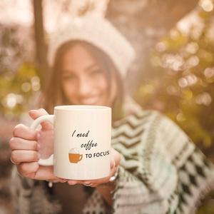 I need caffee feliratú kerámia bögre, ajándékötlet kávéimádóknak, Otthon & Lakás, Bögre & Csésze, Konyhafelszerelés, Fotó, grafika, rajz, illusztráció, Mindenmás, Meska