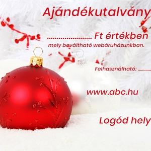 Ajándékutalvány karácsonyi, masszőr, fodrász, kozmetikus, egyedi, kupon, design, Művészet, Grafika & Illusztráció, Fotó, grafika, rajz, illusztráció, Piros-fehér karácsonyi ajándékutalvány!\n\nMasszőröknek, fodrászoknak, kozmetikusoknak, webshopoknak, ..., Meska