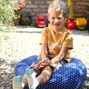 Babzsákpuff gyerekeknek - több színben, Otthon & lakás, Bútor, Babzsák, Varrás, 100% oekopamutból készül, 50liter polisztirol gyöngy töltettel. Huzata mosógépben mosható, a gyöngy ..., Meska