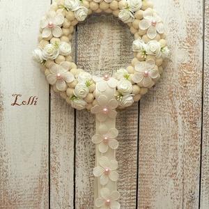 Romantikus rózsás koszorú kopogató ajtódísz (Lolli) - Meska.hu