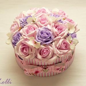 Egyedi rózsaszín rózsadoboz - virág box virágdoboz (Lolli) - Meska.hu