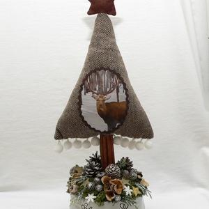 Szarvasos karácsonyi asztaldísz (Lolli) - Meska.hu