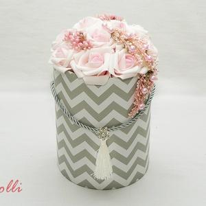 Chevronbox - virág box virágdoboz (Lolli) - Meska.hu