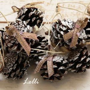 Karácsonyi toboz dekor - 10db/szett (Lolli) - Meska.hu