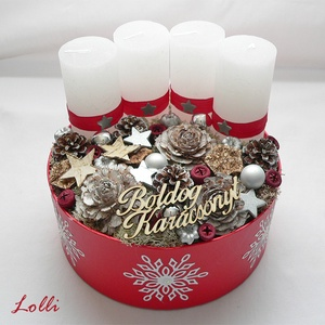 Piros adventi box (Lolli) - Meska.hu