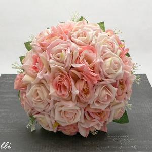 Rózsaszín selyemcsokor (Lolli) - Meska.hu