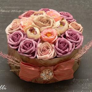 Vintage színű virágdoboz (Lolli) - Meska.hu