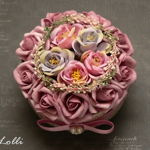 RomanticVintage virág box virágdoboz (Lolli) - Meska.hu
