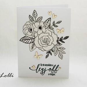 Színezhető képeslap - Az én anyukám a legjobb (Lolli) - Meska.hu