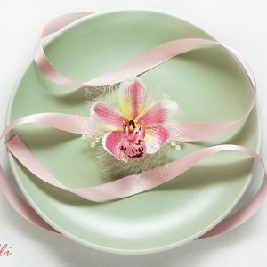 Dustypink orchideás csuklódísz (Lolli) - Meska.hu