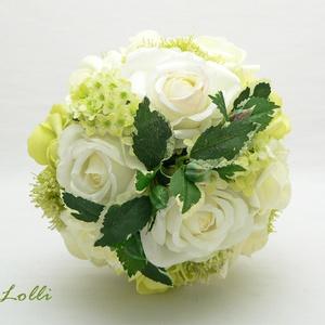 Zöld-ekrü örökcsokor (Lolli) - Meska.hu