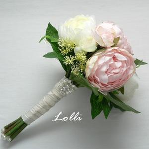 BlushBelle - bazsarózsa menyasszonyi csokor (Lolli) - Meska.hu