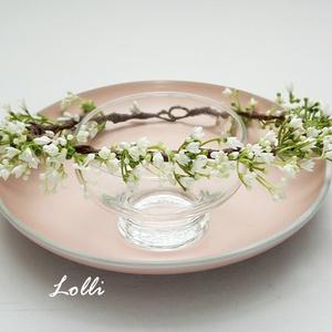 Fátyolvirág fejkoszorú (Lolli) - Meska.hu