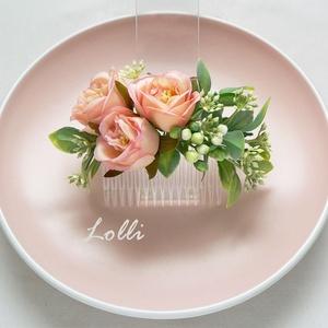 Barack rózsás fejdísz (Lolli) - Meska.hu