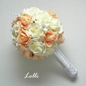 Barack ékszer menyasszonyi csokor (Lolli) - Meska.hu