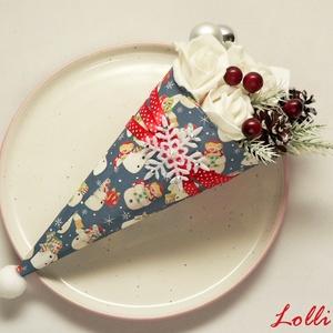 Karácsonyi Mini Hóemberes Ajándékcsokor (Lolli) - Meska.hu