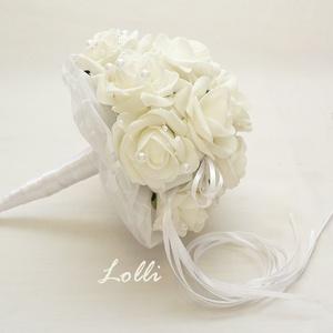 Hófehér dobócsokor  (Lolli) - Meska.hu