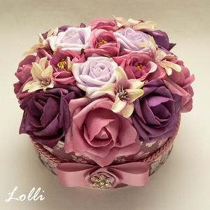 RomanticRosebox - virágdoboz, virágbox, rózsabox (Lolli) - Meska.hu