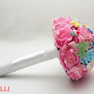 FunnyCandy unikornis ajándékcsokor ballagásra, ballagó csokor (Lolli) - Meska.hu