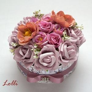 Mályva vintage rózsás köszöntő box (Lolli) - Meska.hu