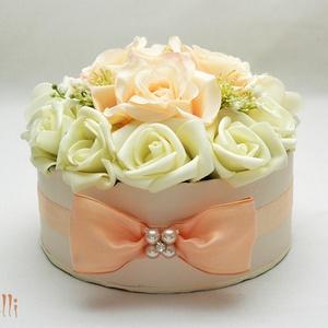 Barack virágdoboz, virágbox, rózsabox - kicsi (Lolli) - Meska.hu