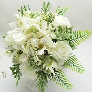AmazingIvory - Egyedi ekrü menyasszonyi örökcsokor (Lolli) - Meska.hu
