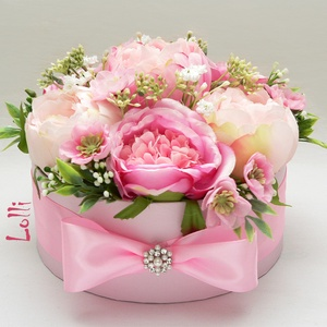 Pink rózsás virágbox (Lolli) - Meska.hu
