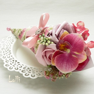 Mini Ajándékcsokor - orchideás (Lolli) - Meska.hu