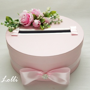Rózsaszín nászajándékgyűjtő doboz - pénzgyűjtő doboz (Lolli) - Meska.hu