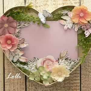 Szív virágkeret (Lolli) - Meska.hu