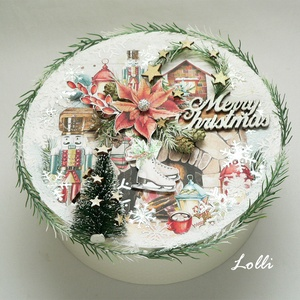 2az1-ben karácsonyi ajándékdoboz és kopogtató (Lolli) - Meska.hu