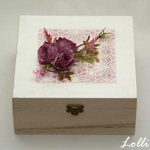 Vintage rózsa box szülőköszöntő dobozok /2db (Lolli) - Meska.hu