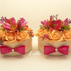 Pötyipár - 2db Pink - barack virágdoboz (Lolli) - Meska.hu