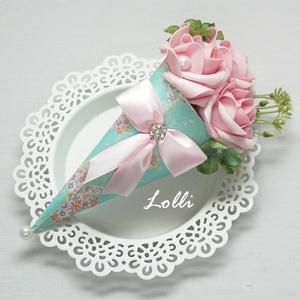 Mini Ajándékcsokor - rózsaszín rózsás, Esküvő, Otthon & lakás, Dekoráció, Ünnepi dekoráció, Anyák napja, Mini ajándékcsokor  adhatod születésnapra, anyáknapjára szülőköszöntő csokornak, csak úgy..  Rózsasz..., Meska